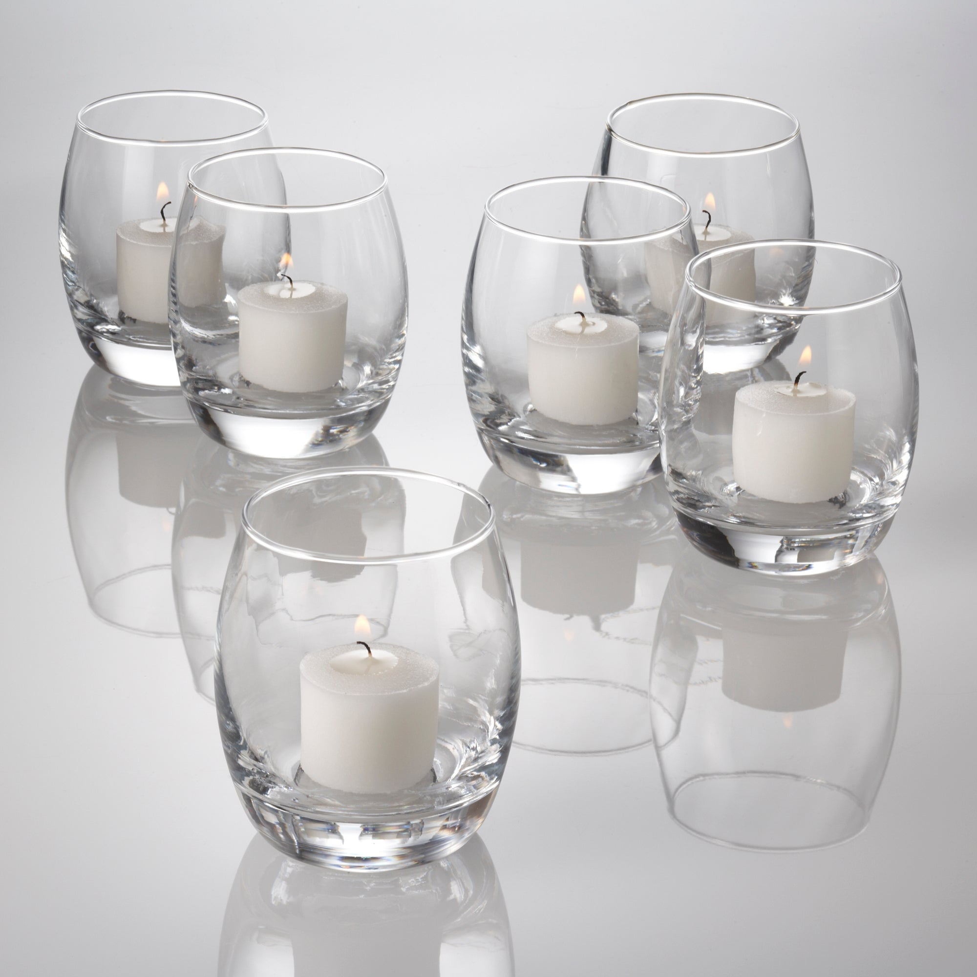 eastland grande hurricane votive candle holder set of 72