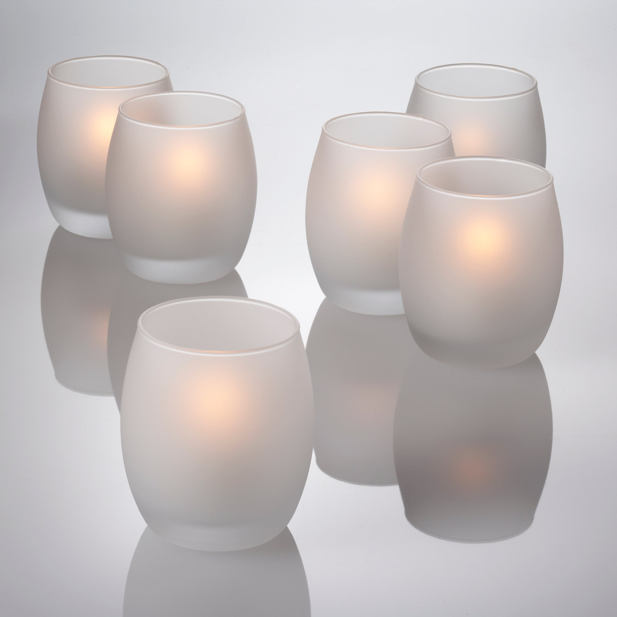 eastland grande hurricane votive candle holder frosted set of 12