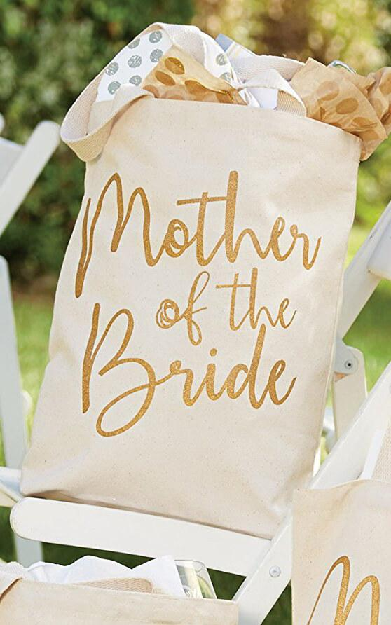 Mother of the Bride Canvas Tote Bag  14""