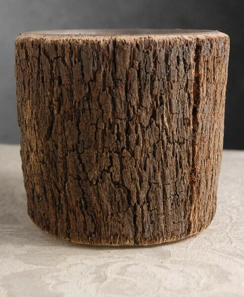 natural bark covered 5 5 round cylinder timber vases