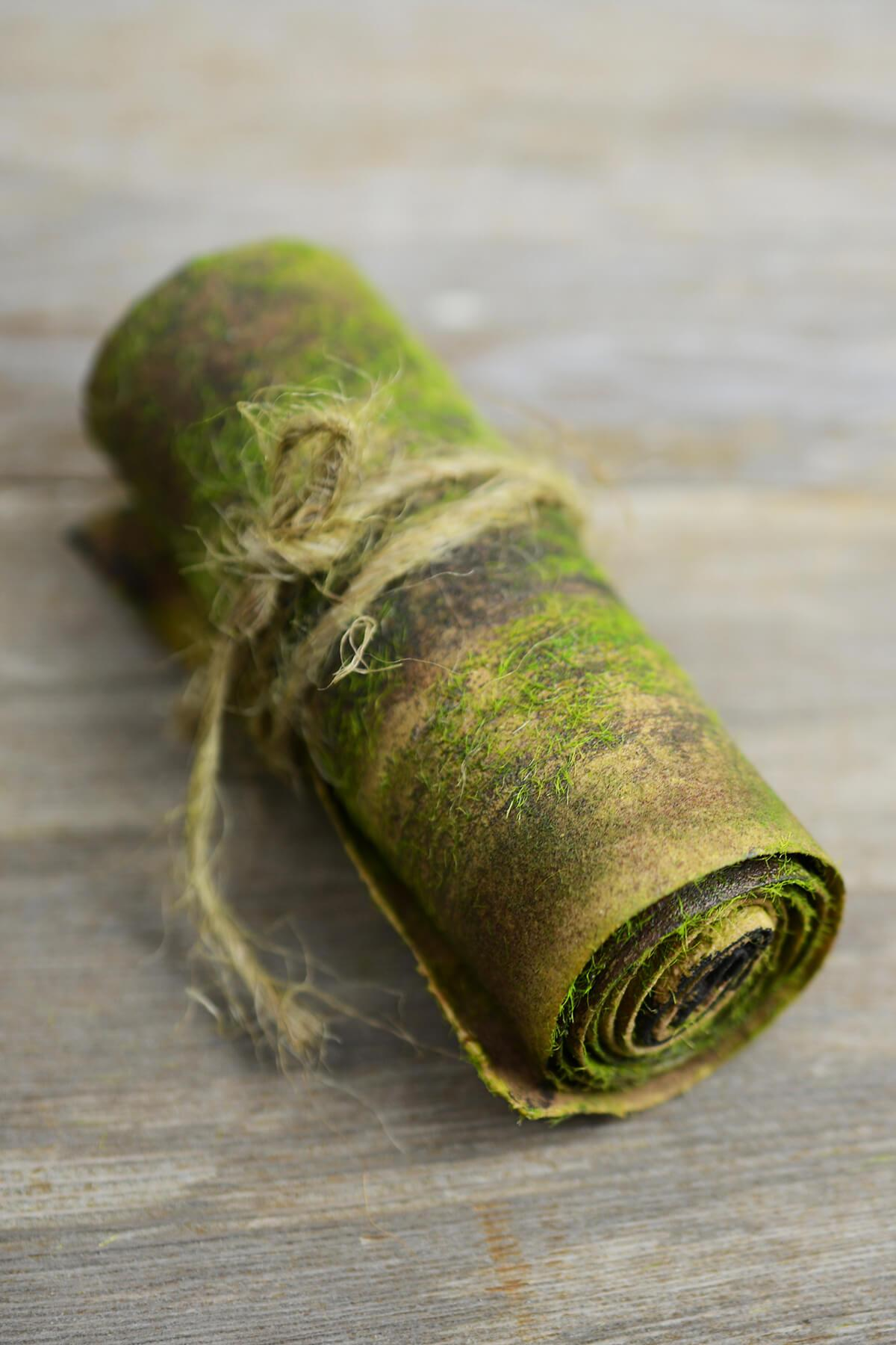bark wrap with faux moss 4 x 24