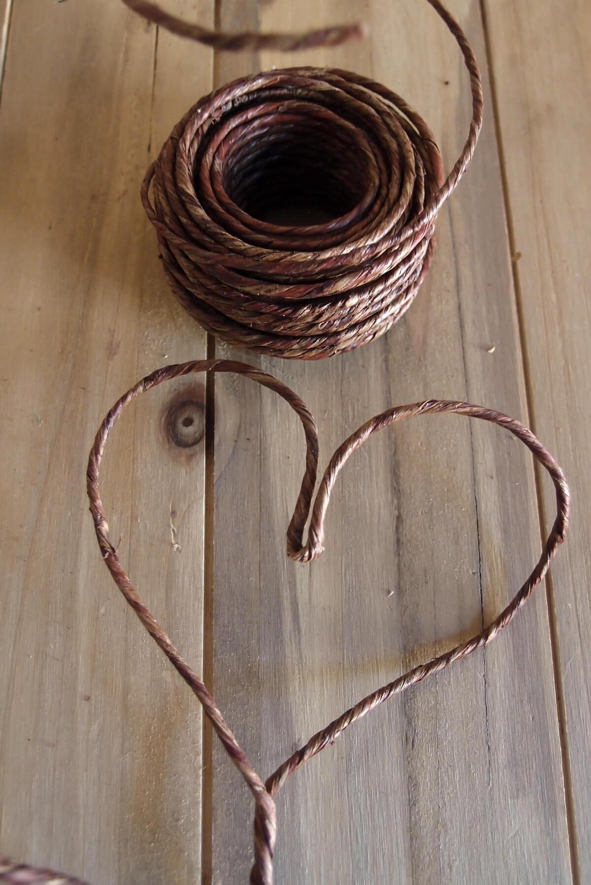 vine wrapped rustic wire 40ft