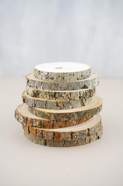 8 Tree Branch Rounds 3.5 - 4.5 in , Coasters
