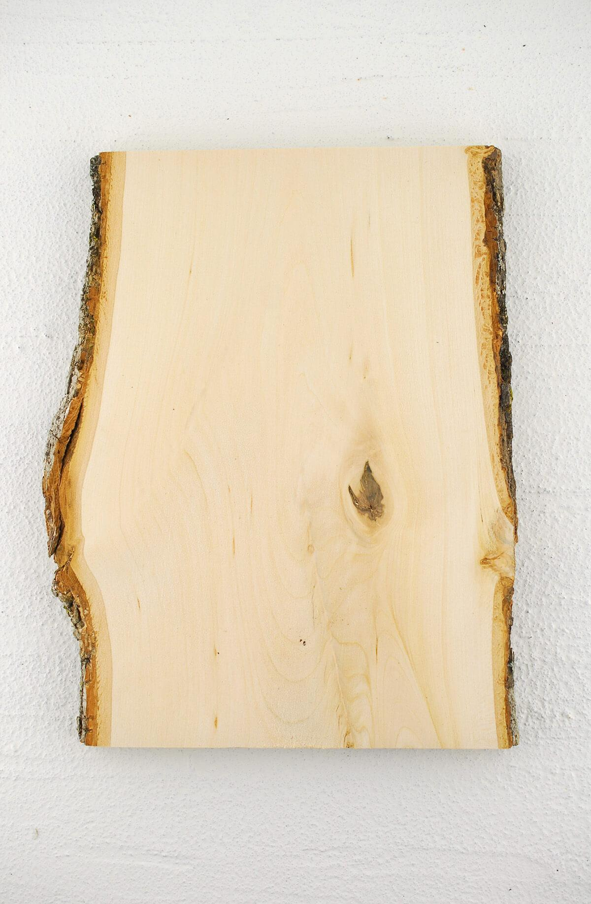 "Wood Plank 11"" X 8""  with Bark"