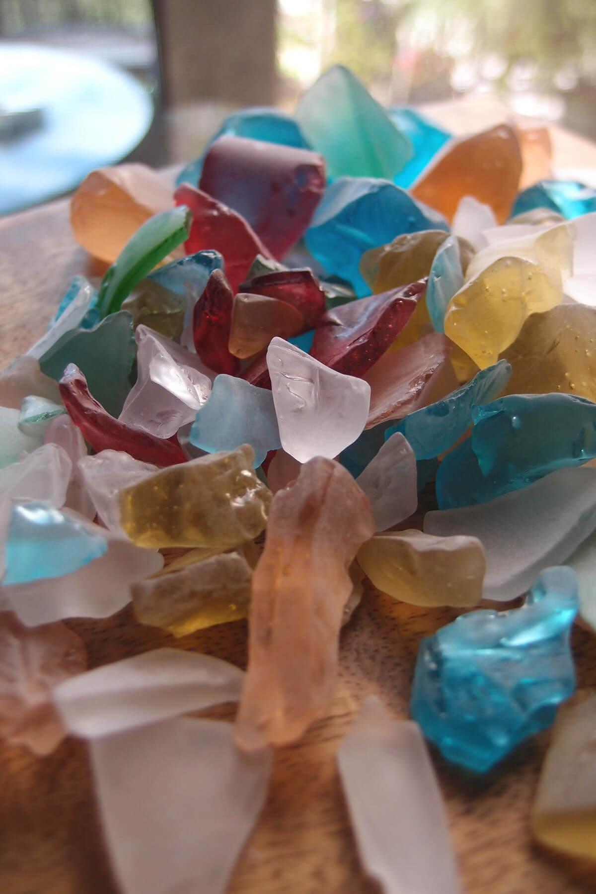 beach glass multicolor 3 4 lb