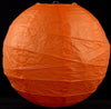 "16"" ORANGE Paper Lanterns with Bamboo Ribbing"