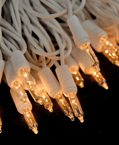 100 Indoor Mini String Lights 40 Feet White Cord