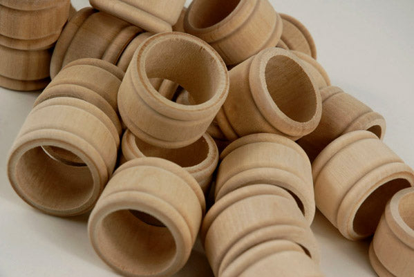 Wood Napkin Rings - Pack of 25