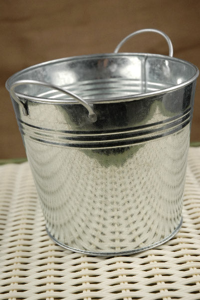galvanized metal pail with liner 5 5in
