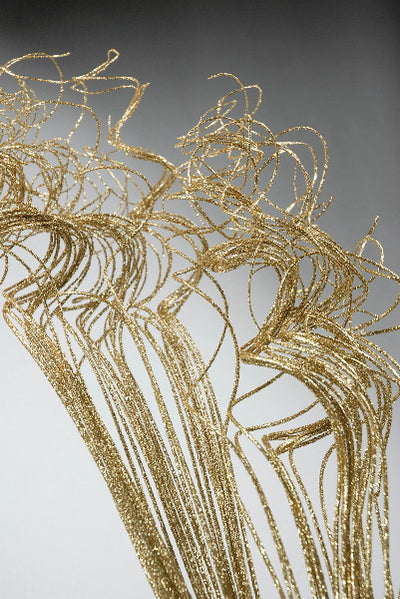 Natural Curly Ting GOLD SPARKLE  (32 stems) 27""