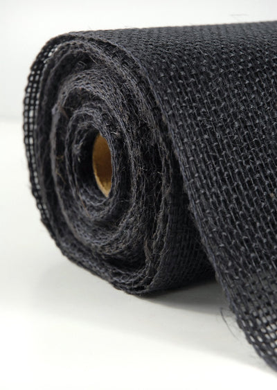 "Black Burlap 14 "" x  10 yards"
