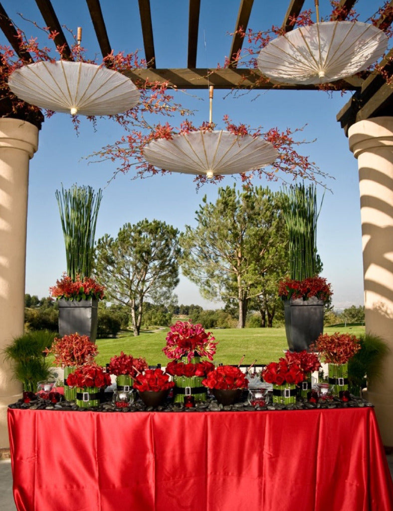 White Bamboo 32in Parasols, Wedding Parasols