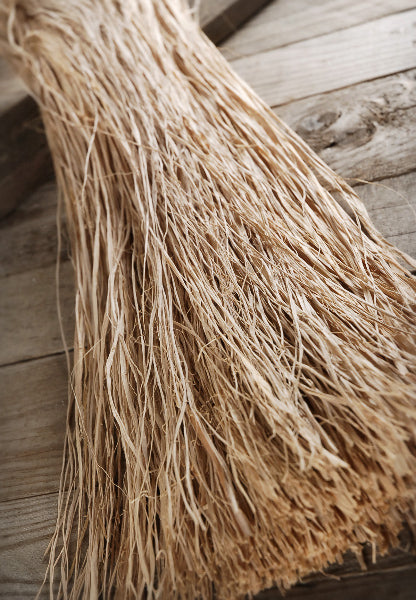 natural raffia bundle trimmed