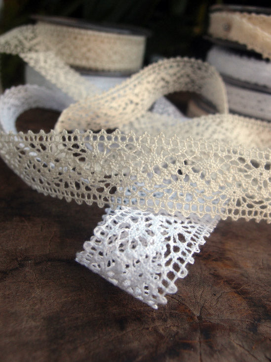 White Lobeck Lace 1in x10yds