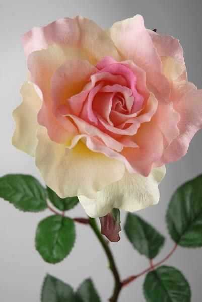 large pink rose spray 27in