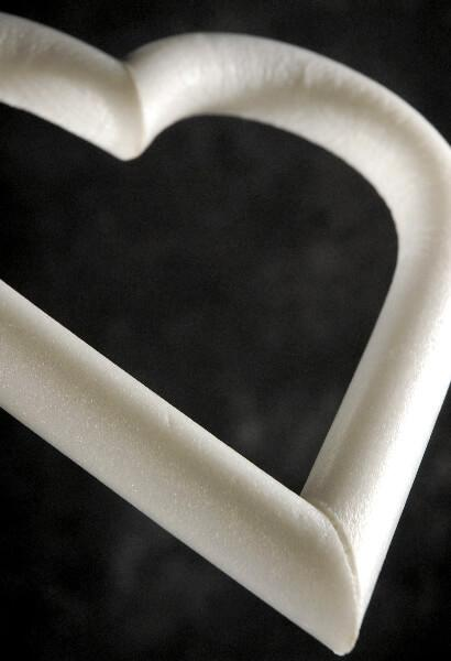 Styrofoam Heart Wreath 12""