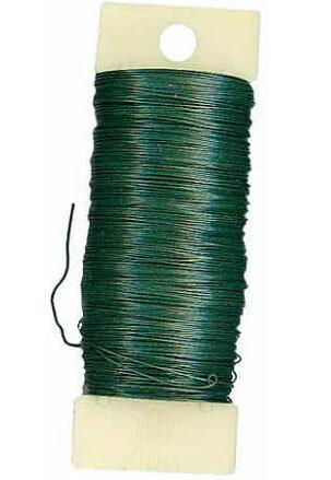 Floral Paddle Wire  22 Gauge, Floral Wire Green