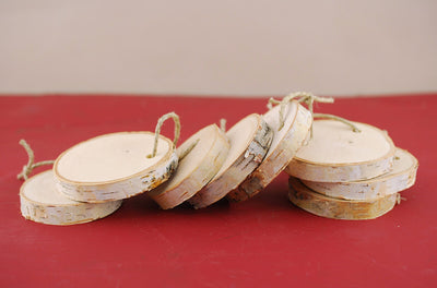 "8 Birch 3"" Round Hanging Tags  (Pack of 8)"