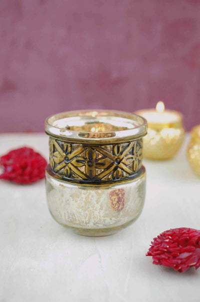 "Gypsy Votive Candle Holder 3.5"" x 3.75"