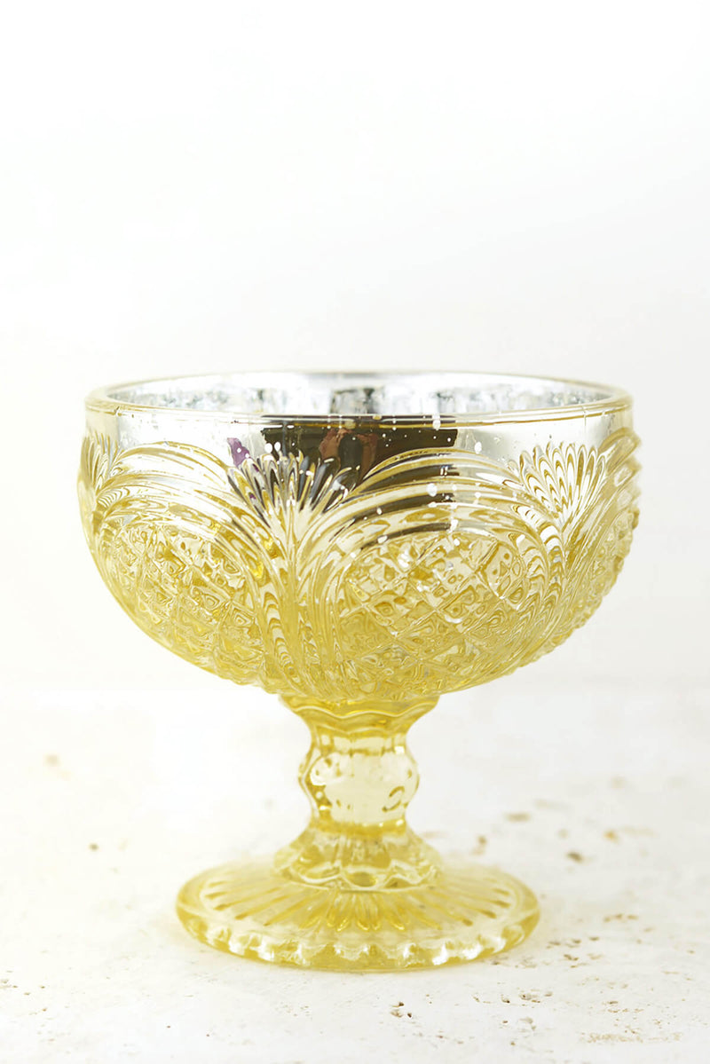 kingston mercury glass compote 4 25 x 4 5 gold