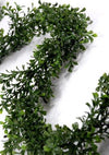 9ft Faux Boxwood Garland