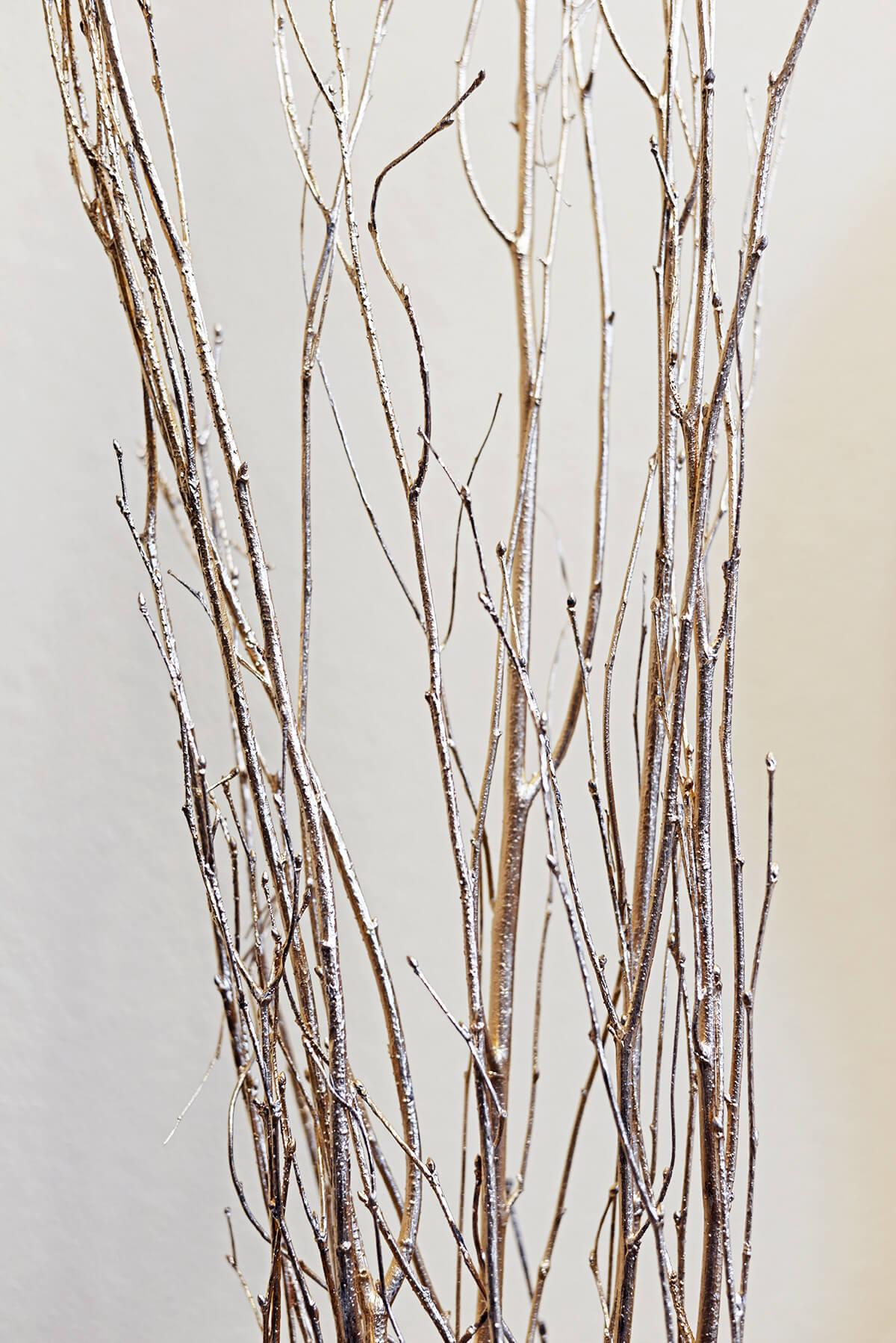 5 Gold Leaf Birch Branches Birch 5 Feet
