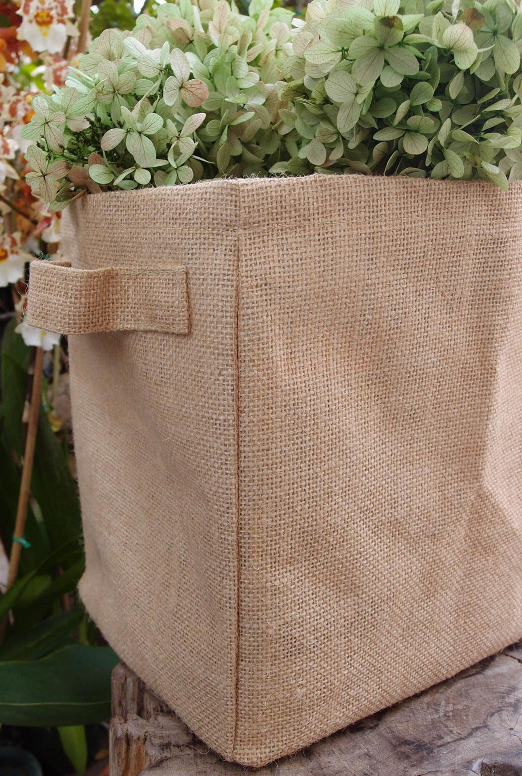 6 Burlap Storage Bags, Gift Basket Bag 9""