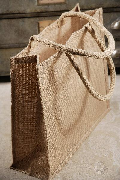 6 large 15x13 burlap tote bags welcome bags
