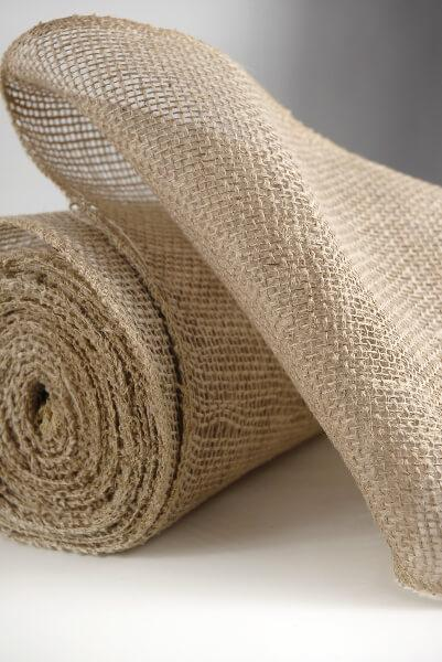 "Burlap Fabric 9"" wide x 10 yards"