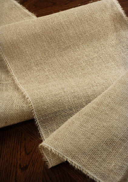 burlap table runner 12 5 wide 120 long