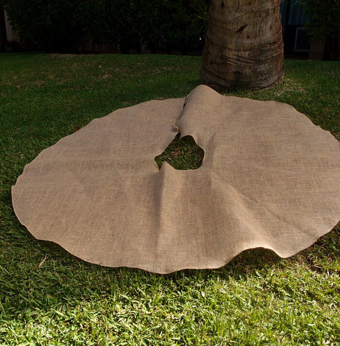 burlap tree skirt 60in