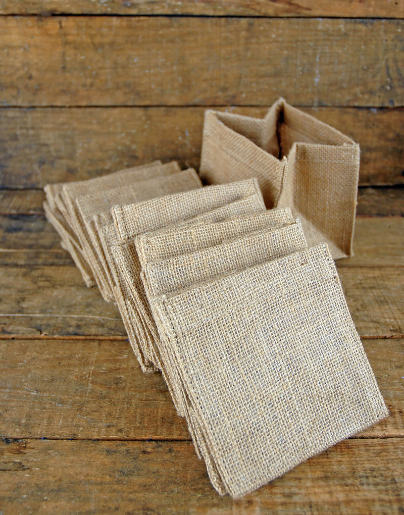 12 burlap pot covers 5 square