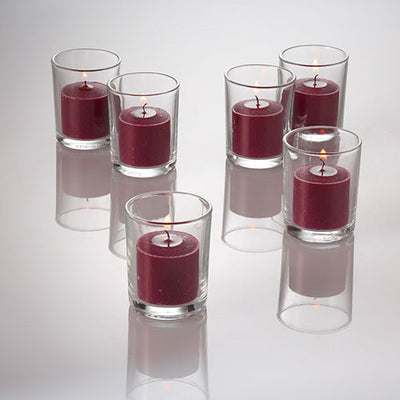 Richland Votive Candles Purple Mulberry Scented 10 Hour Set of 144