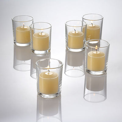 richland votive candles unscented ivory 10 hour set of 12