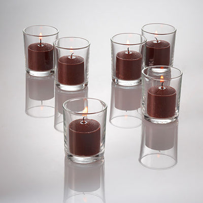 richland votive candles unscented brown 10 hour set of 72