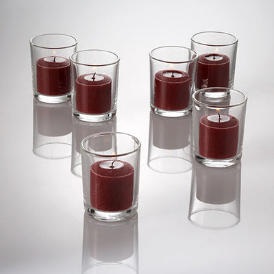 richland votive candles unscented red 10 hour set of 72