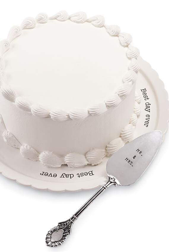 best day ever wedding cake plate set
