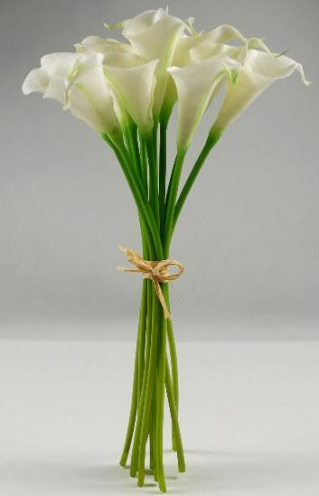 calla lily bouquet natural touch 14 tall