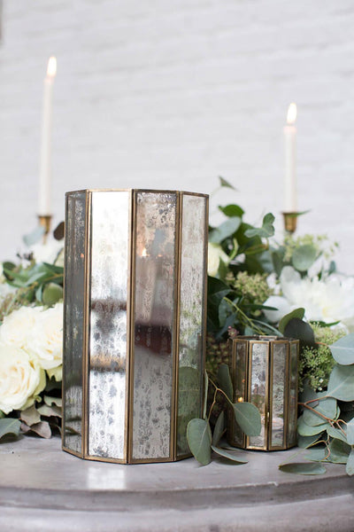 glass paneled 10 5in virtue candleholder
