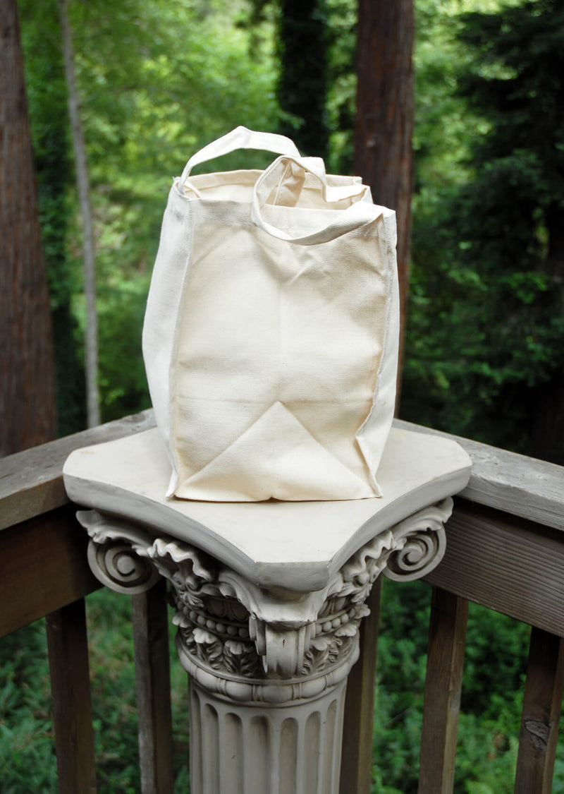 "Canvas Tote Bag  Natural 8"" x 8"" x 11"""