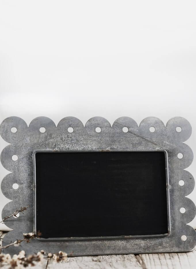 Scallop Zinc Framed 10x5 Tabletop Chalkboard