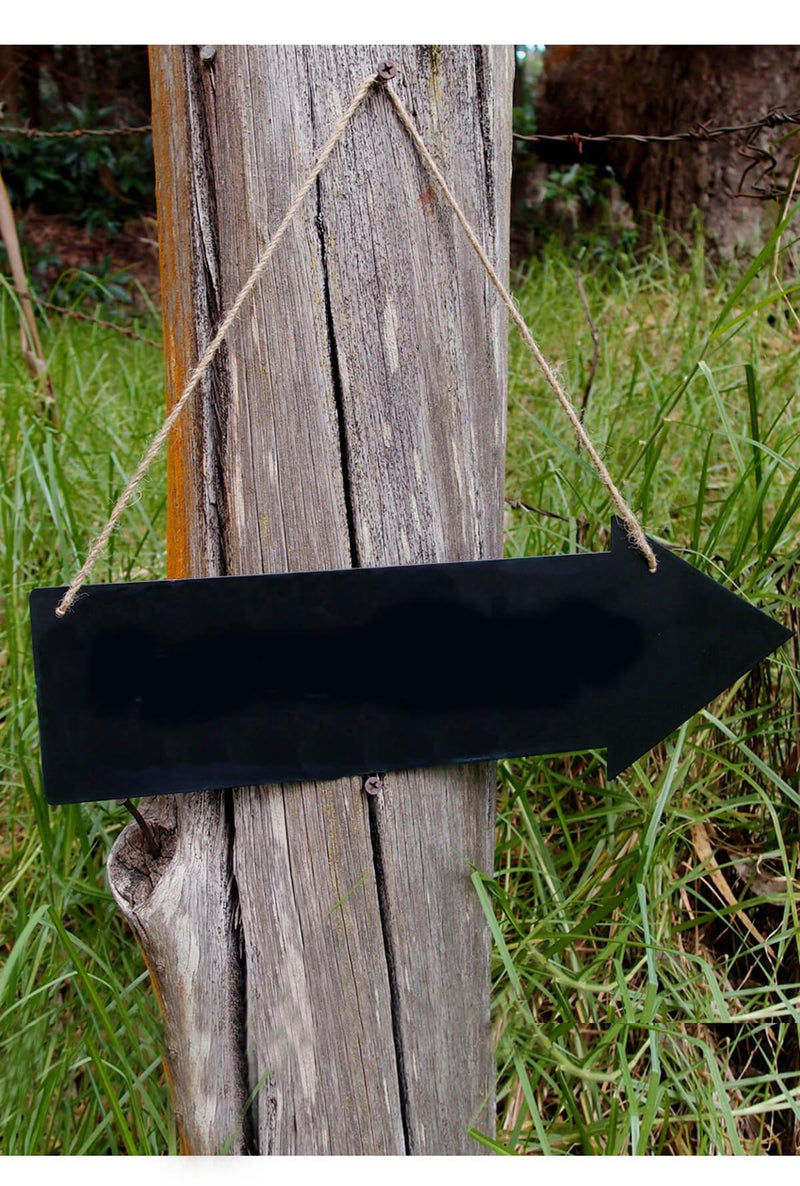 Metal Hanging 15in Chalkboard Arrow  2 Sided