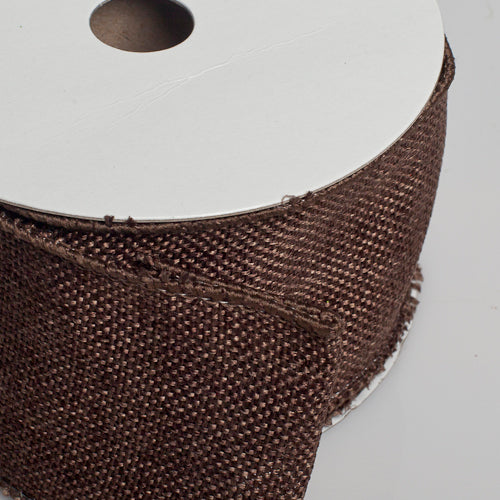 "Richland Burlap Ribbon with Wire Chocolate Brown 2.5"" x 10 Yards"