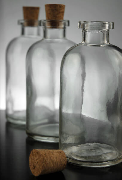 8oz. Apothecary Bottles with Cork Tops, 8oz (12 Pack)