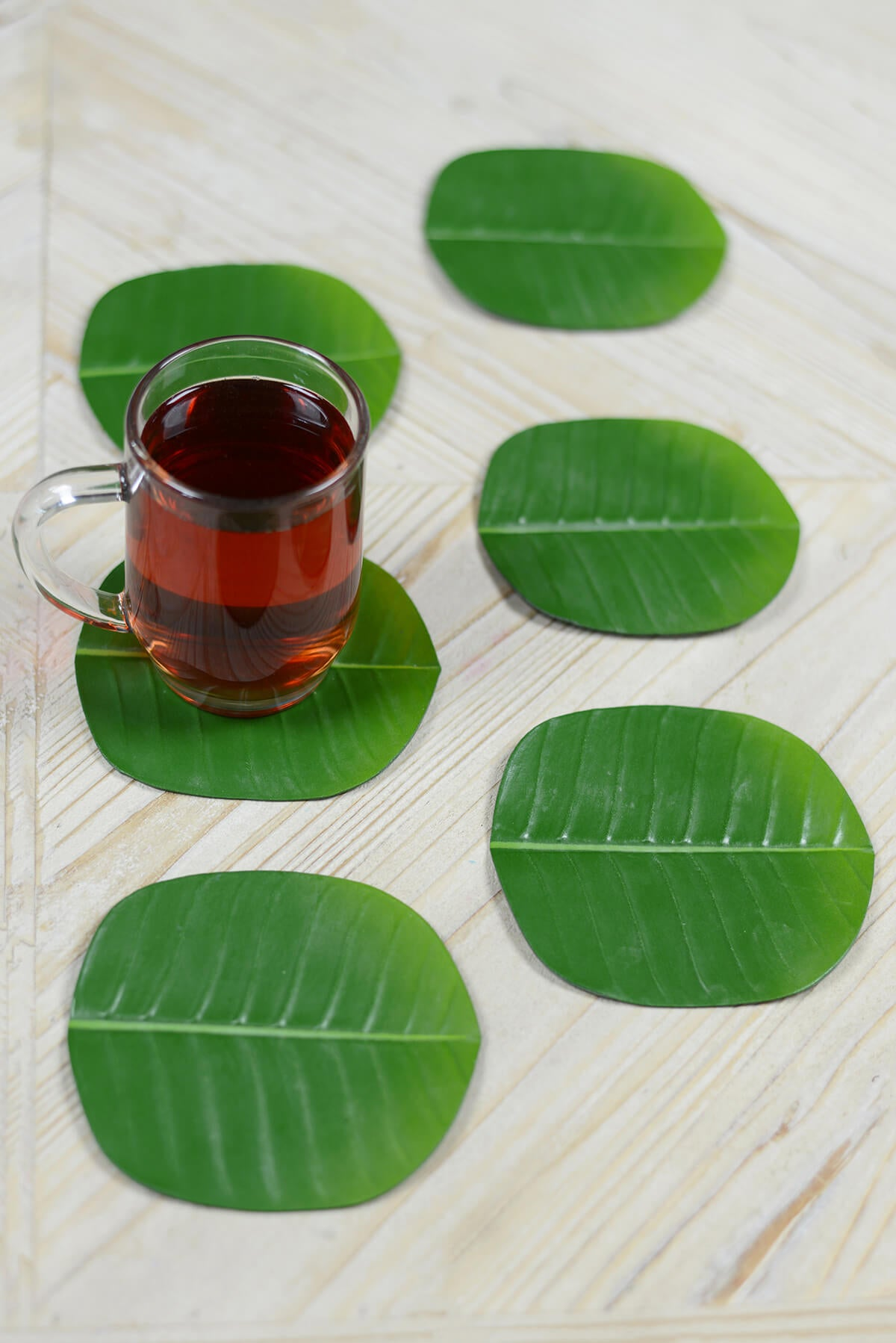 6 Banana Leaf Coasters
