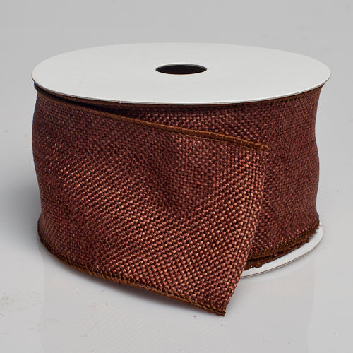 "Richland Burlap Ribbon with Wire Copper Brown 2.5"" x 10 Yards"