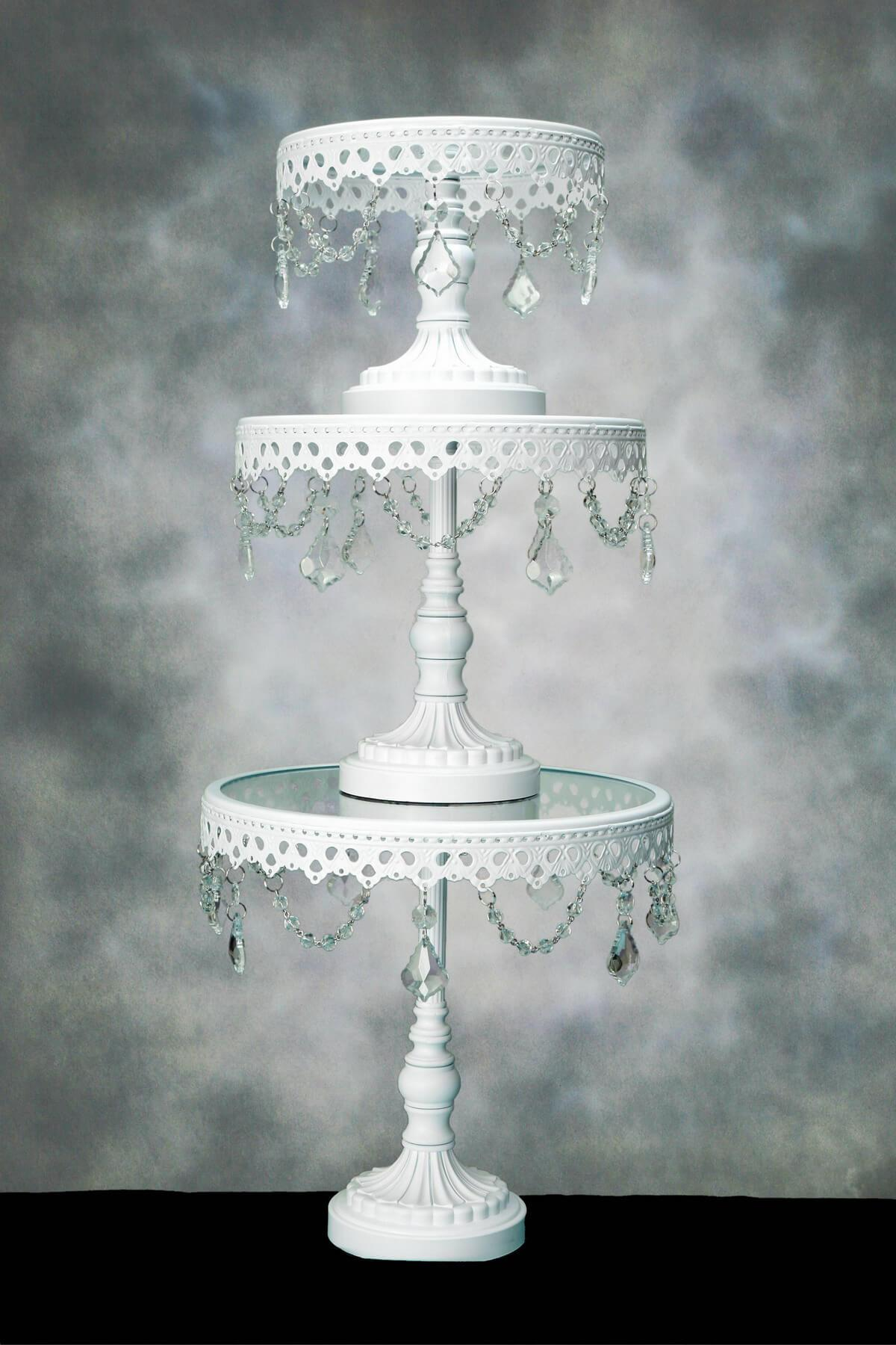 Crystal Cake Stands Pedestal (Set of 3)