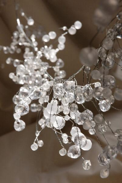 Wired Crystal Garlands 42in
