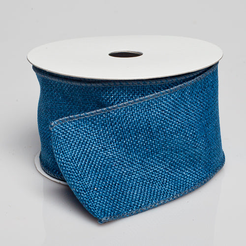 "Richland Burlap Ribbon with Wire Denim Blue 2.5"" x 10 Yards"