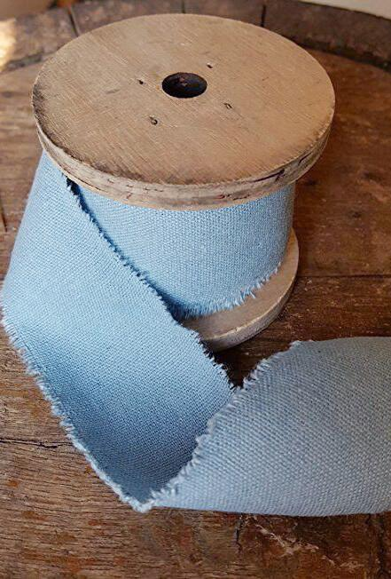 "Muslin Ribbon Denim 2"" x 9.8'"